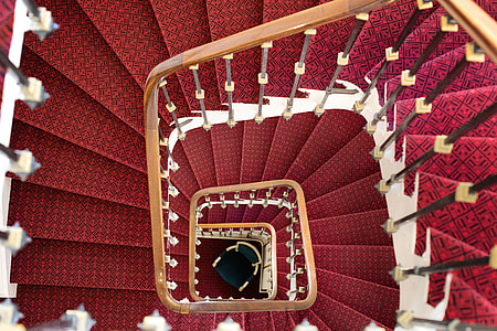 red spiral stair