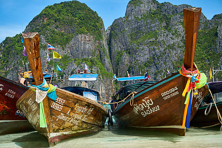 Boats on coast on Thailand