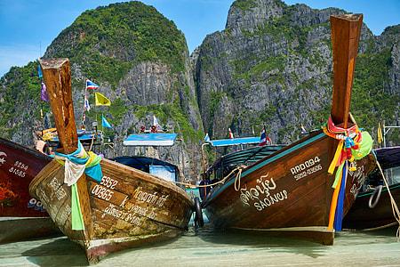 Boats on coast on Thailand