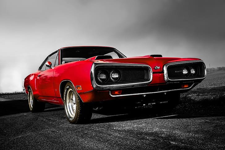classic red coupe