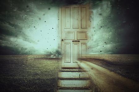 brown door illustration