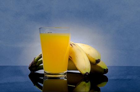 three ripe bananas