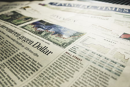Gegen Dollar Newspaper Article