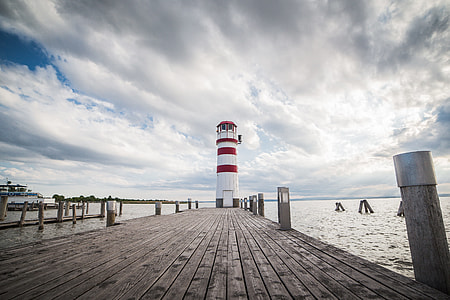 Pier with a Beautiful Lighthouse