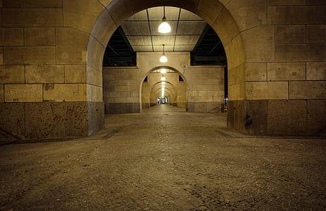 photo of underground tunnel