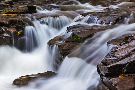 time lapsed photography of white waterfalls