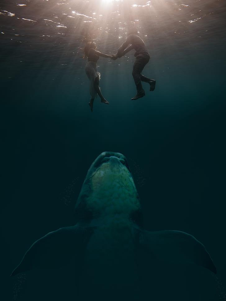 couple underwater shot