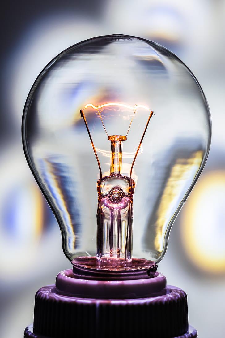 purple Edison bulb