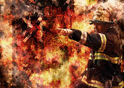 firefighter illustration