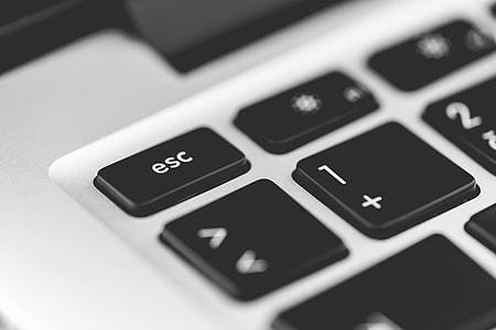 Escape Key Laptop Keyboard Close Up