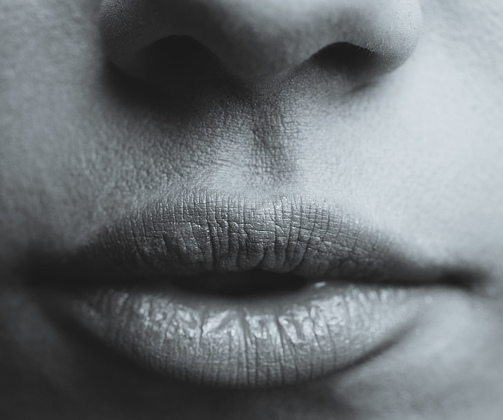 Erotic mouth photography