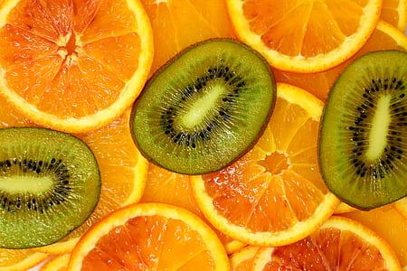 slice of kiwi and orange