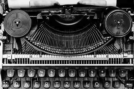 gray and black typewriter