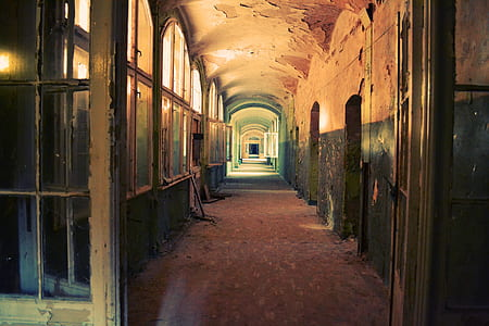 hallway of abandoned building