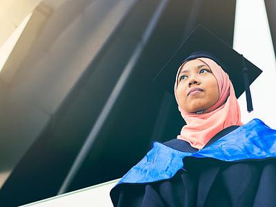 photo of woman wearing pink hijab