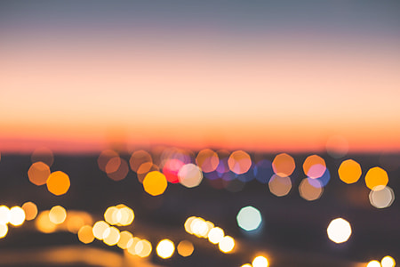 Romantic Bokeh Colors Over The City