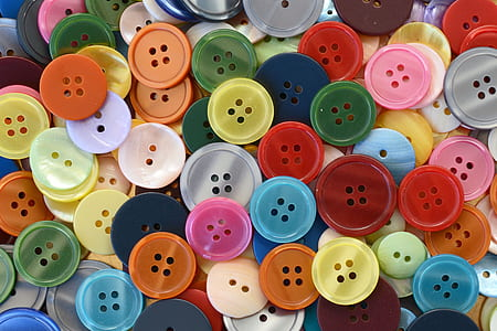 assorted-color button lot
