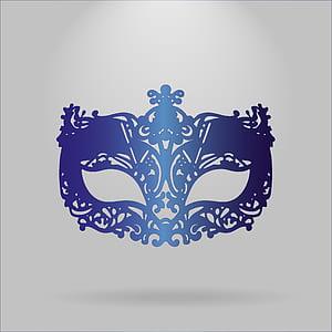 photo of blue masquerade mask