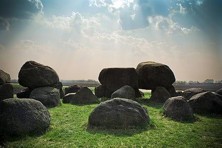 black rock pillar
