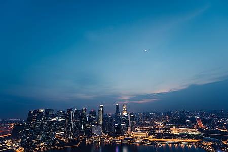aerial view of hi-rise buildings
