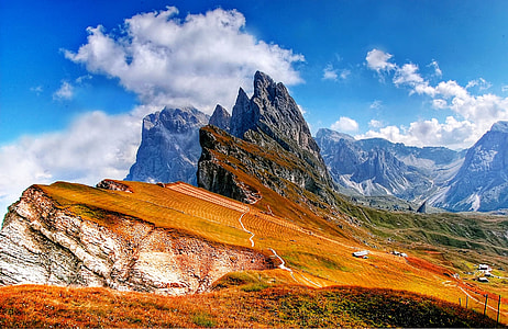 photo of mountains under clear blue sky during daytime