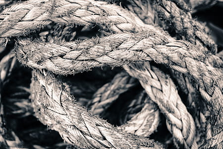 macro shot of rope