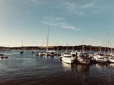 White Yacht On Harbour