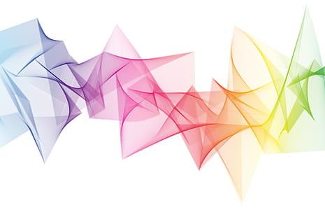 rainbow flame artwork
