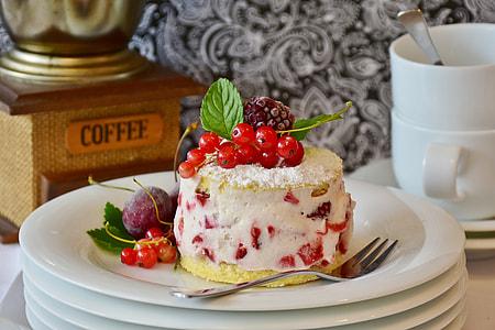 baked cake on white ceramic plate