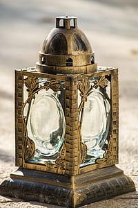 brass bracket lantern
