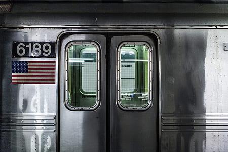 grey transit door closed