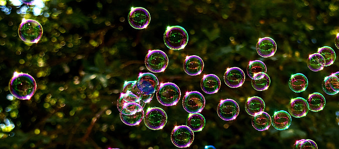 selective focus photo of bubbles at daytime