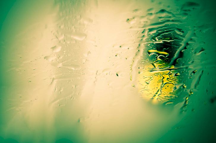 Wet glass texture
