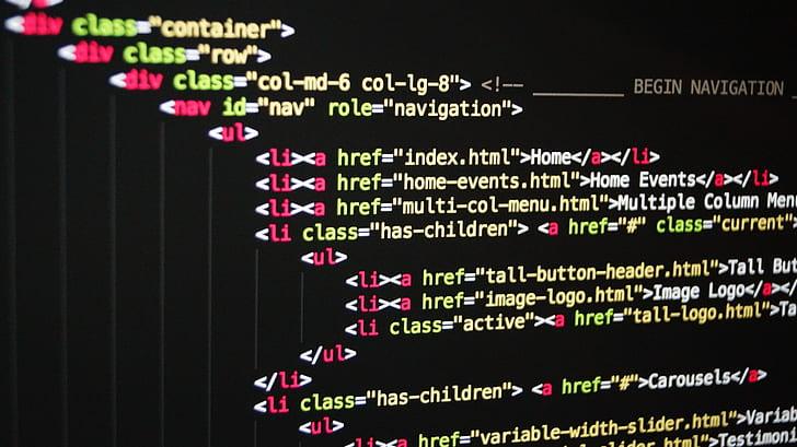 computer programming screegrab