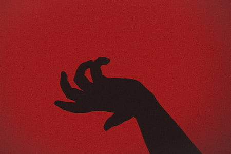 silhouette of human hand