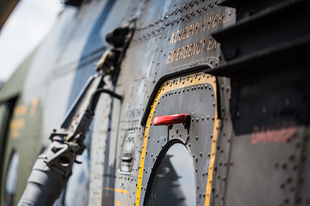 Emergency Exit Door on Army Helicopter