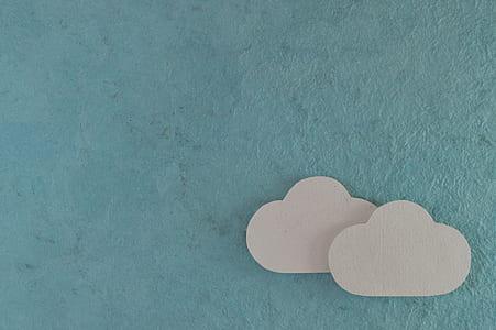 two cloud cutout decors