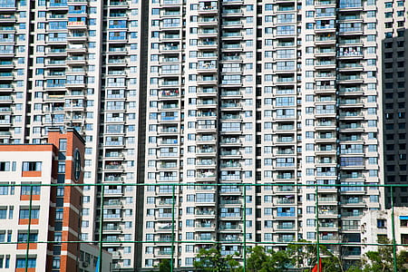 Aparment Buildings in City