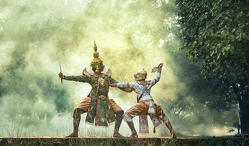ancient warriors illustration