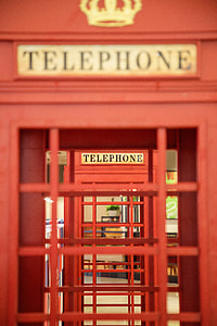 pile of two telephone booths