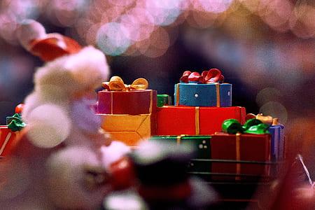 bokeh photo of presents