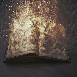 burning book illustration