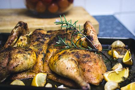 Spatchcock lemon chicken