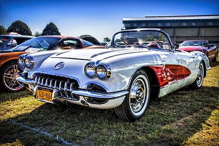 silver convertible car