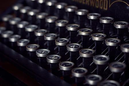 typewriter keys selective focus photo