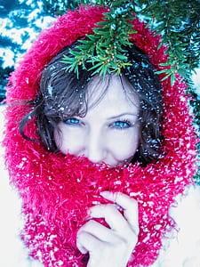 women's pink fur scarf during daytime close-up photo