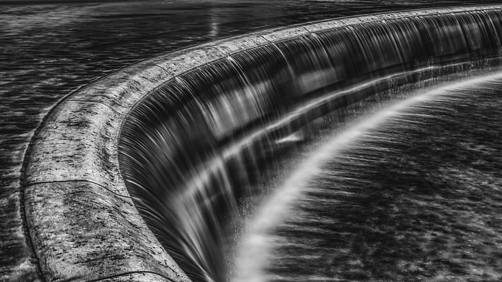 lapsed time photo of dam