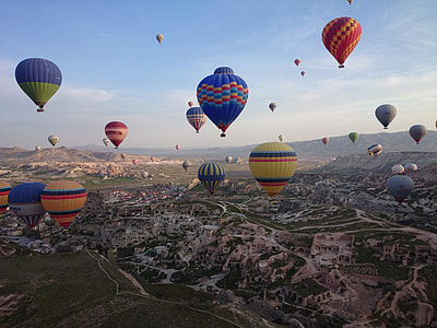 assorted-color air balloons during daytime