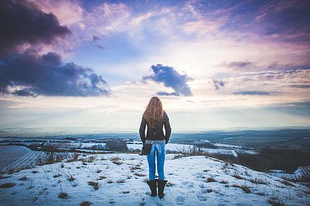 Girl and Fantasy Sky Scenery #2