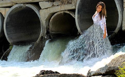 photo of water drainage